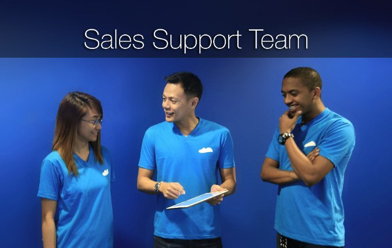 The sales support team checking on the status of their clients. Looks good!